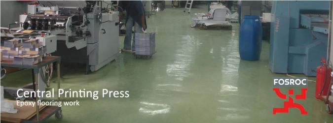 Central Printing press Epoxy flooring work
