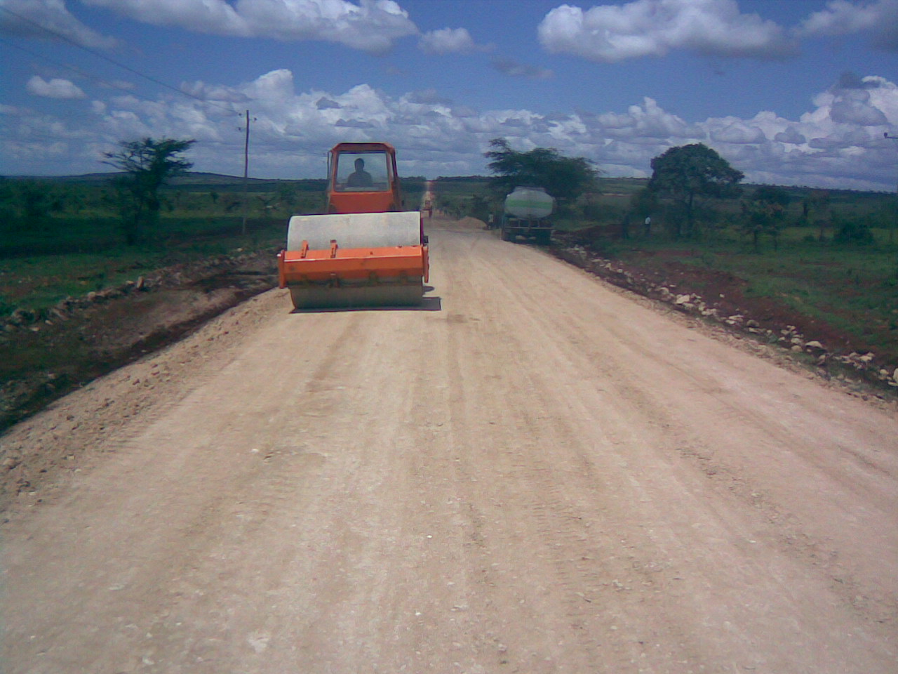 MAN construction working on road projects.