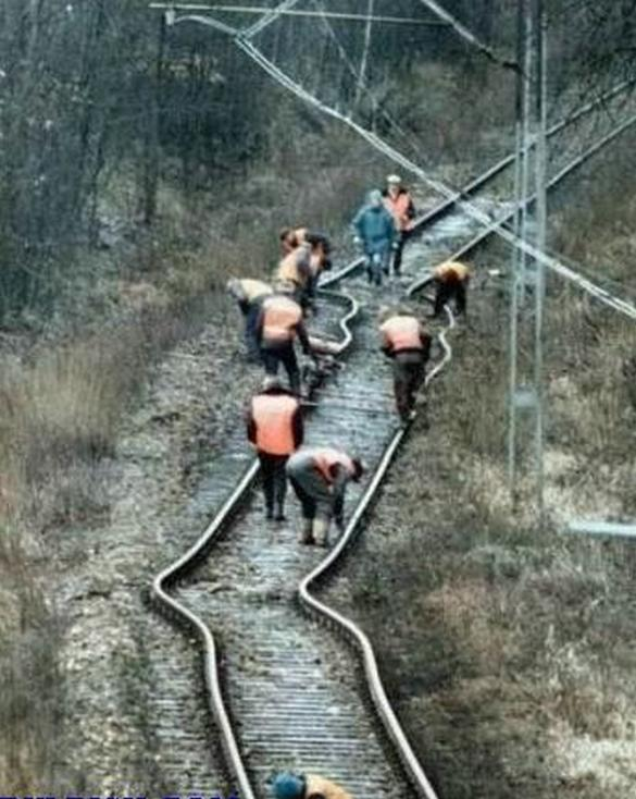 Image of funny railway construction mistakes