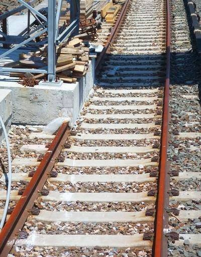 Image showing railway construction fault
