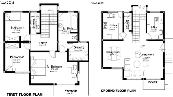 First & Ground Floor plan