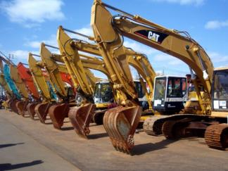 Image of construction machineries
