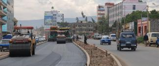Road construction project in Addis Ababa image
