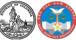 Image showing logos of cities of Washigton DC and Addis Ababa