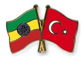 The National flags of Ethiopian and Turkey image