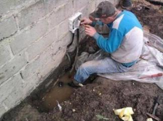 Image of  electric work –funny safety fails